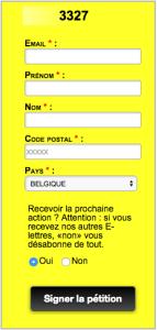 image donnant le lien vers la pétition Amnesty International pour changer la loi transgenre en Belgique