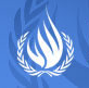 Logo of United Nations Human Rights High Commissioner leading to press briefing