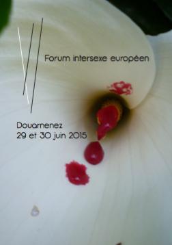 affiche du forum intersexe européen 2015
