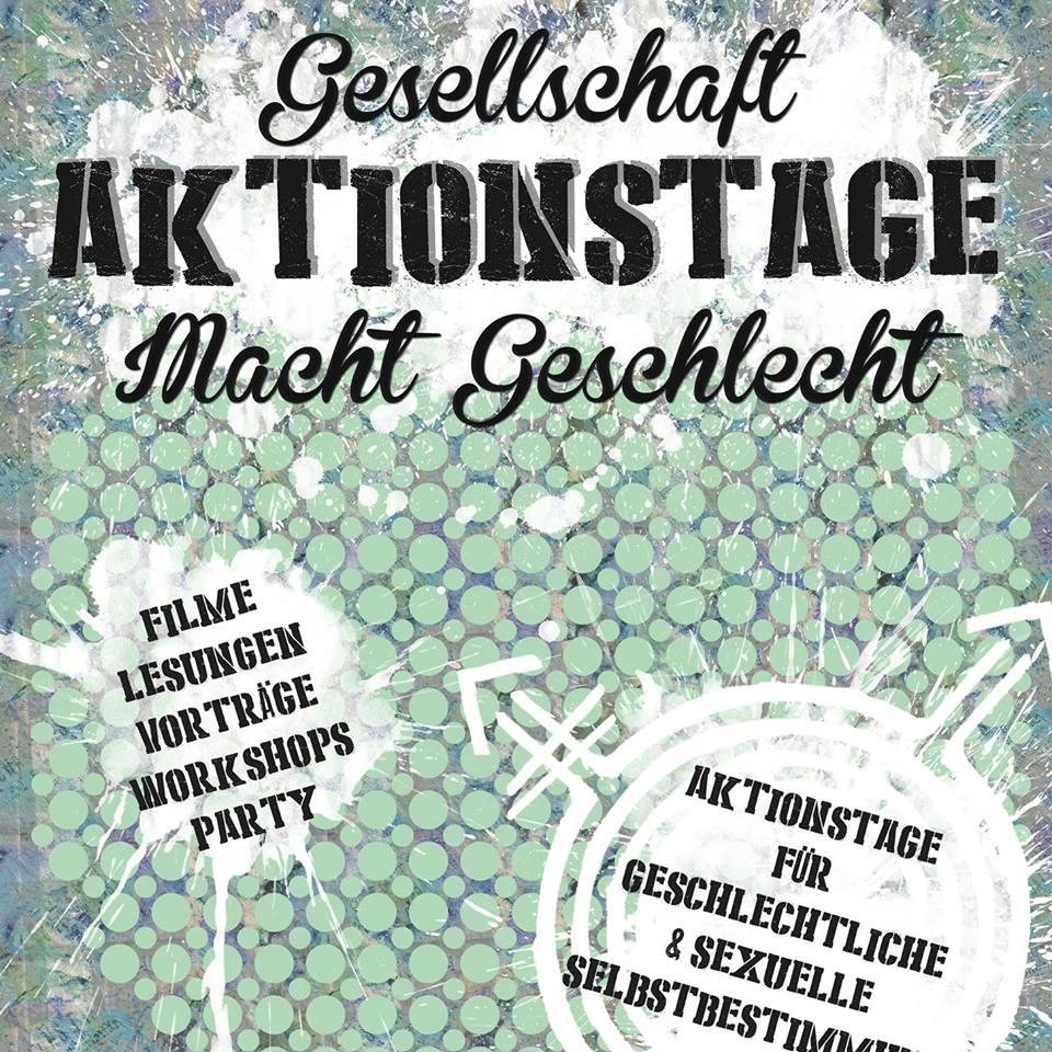 Plakat zu : Aktionstage Gesellschaft_Macht_Geschlecht - Bielefeld - Trankine